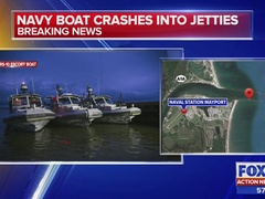 Navy boat crashes into jetties