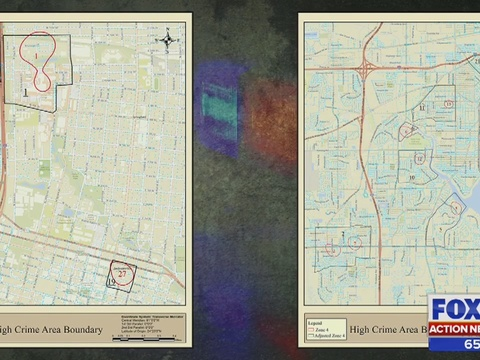 Jso Maps Reveal High Crime Areas Wjax Tv