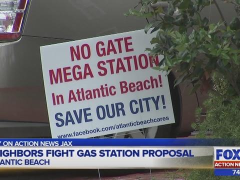 Atlantic Beach neighbors fight proposed Gate gas station | WJAX-TV