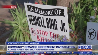 Residents demand independent investigation of shooting of unarmed man