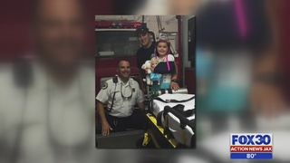 Clay County first responders reunite with little girl they rescued