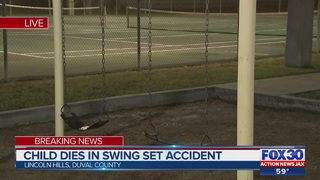 Jacksonville police: Child dies after becoming tangled in swing chains…