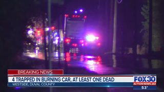 At least one dead in fiery vehicle crash in Westside Jacksonville