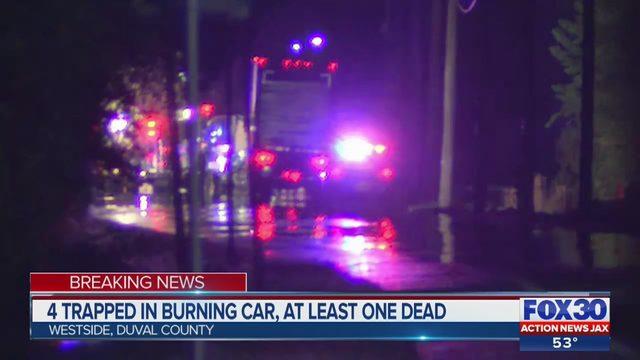 Five dead in fiery vehicle crash in Westside Jacksonville | WJAX-TV