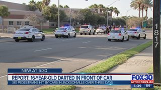Report: 16-year-old darted in front of car