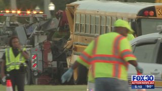 Train versus school bus crash safety issues