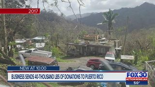 Business sends 40,000+ pounds of donations to Puerto Rico