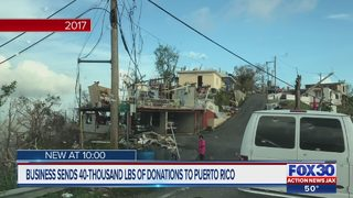 Business sends 40+ thousand pounds of donations to Puerto Rico